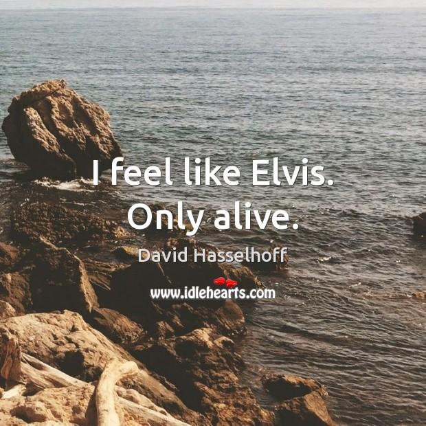 I feel like Elvis. Only alive. Image