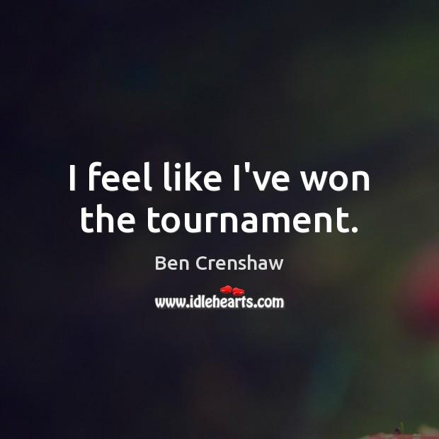I feel like I've won the tournament. Image