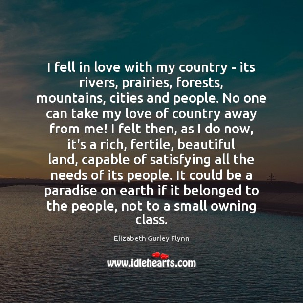 Image, I fell in love with my country – its rivers, prairies, forests,