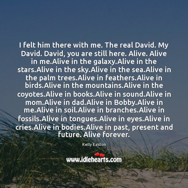 Image, I felt him there with me. The real David. My David. David,
