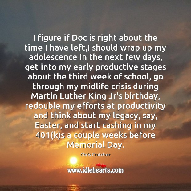 I figure if Doc is right about the time I have left, Memorial Day Quotes Image