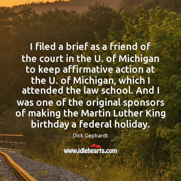 Image, I filed a brief as a friend of the court in the