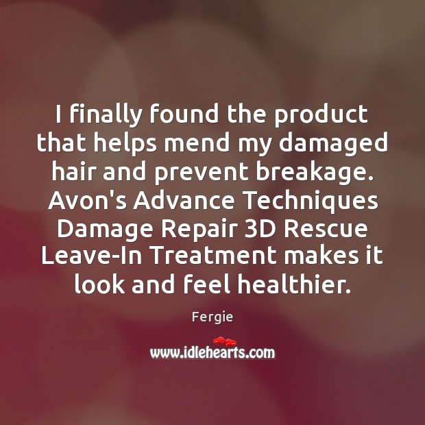 Image, I finally found the product that helps mend my damaged hair and
