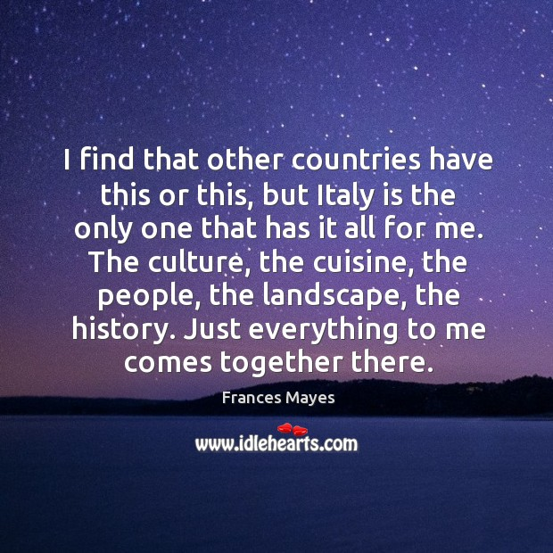 I find that other countries have this or this, but Italy is Image