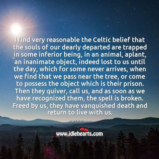 I find very reasonable the Celtic belief that the souls of our Image