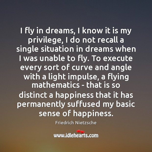 I fly in dreams, I know it is my privilege, I do Execute Quotes Image