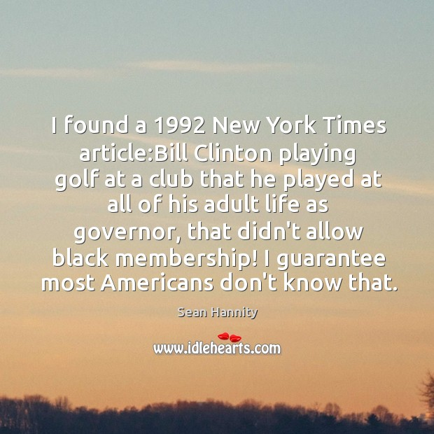 Image, I found a 1992 New York Times article:Bill Clinton playing golf at