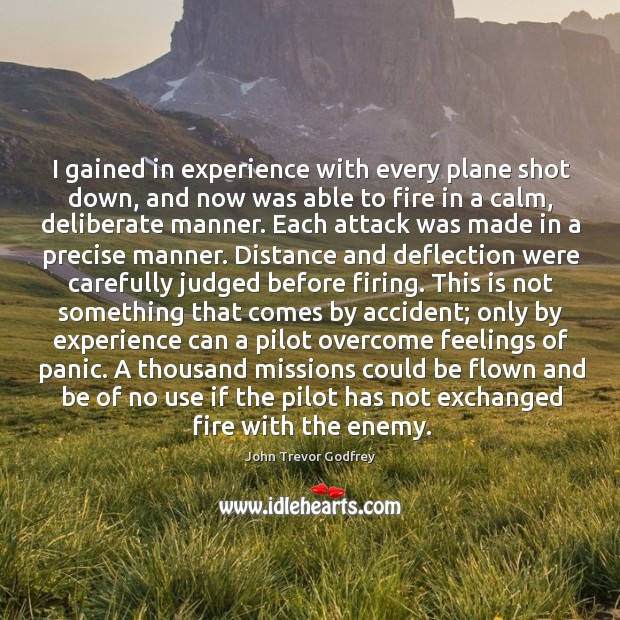 I gained in experience with every plane shot down, and now was Image