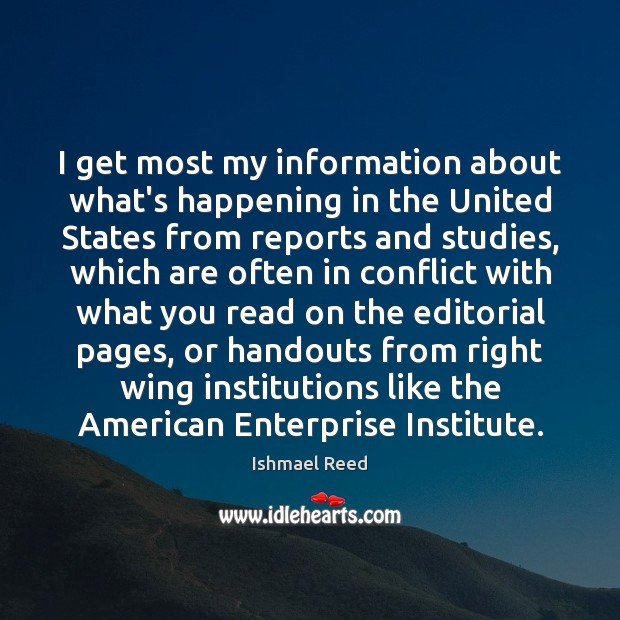 I get most my information about what's happening in the United States Image