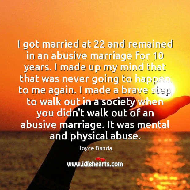 Image, I got married at 22 and remained in an abusive marriage for 10 years.