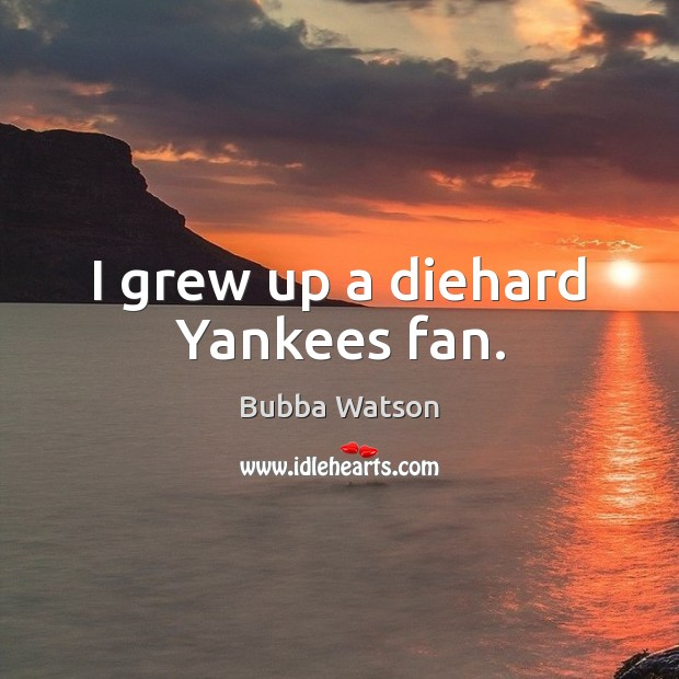 Image, I grew up a diehard Yankees fan.
