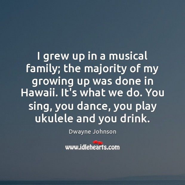 I grew up in a musical family; the majority of my growing Image