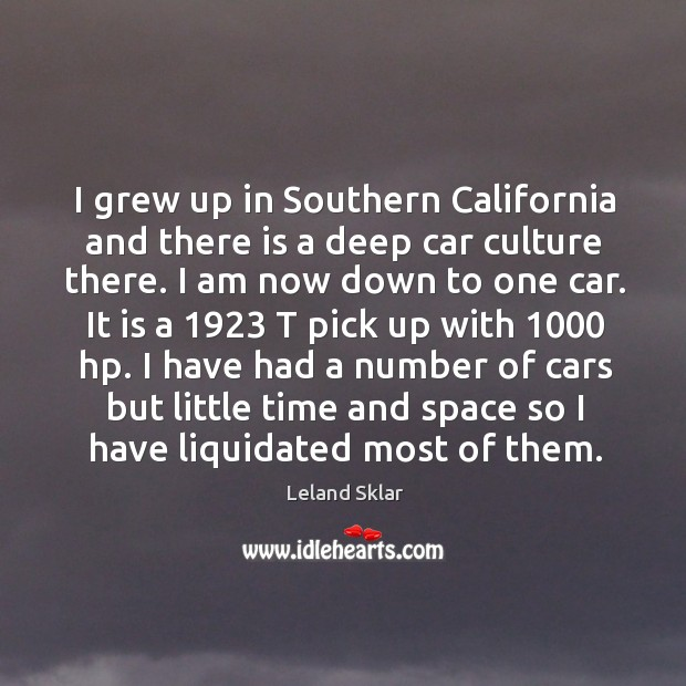 I grew up in Southern California and there is a deep car Image