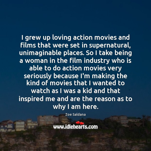 Image, I grew up loving action movies and films that were set in