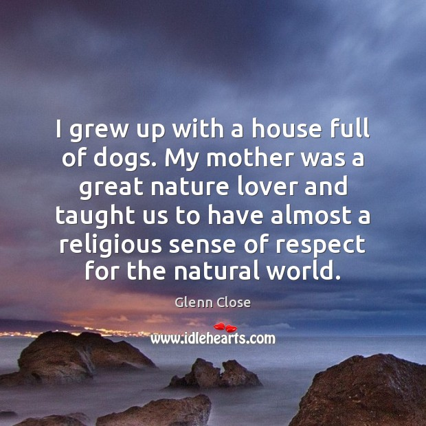 I grew up with a house full of dogs. My mother was Image