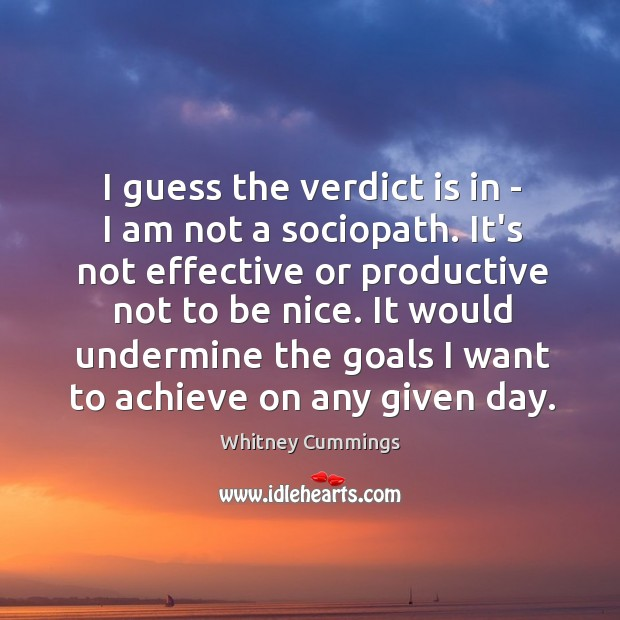 Image, I guess the verdict is in – I am not a sociopath.