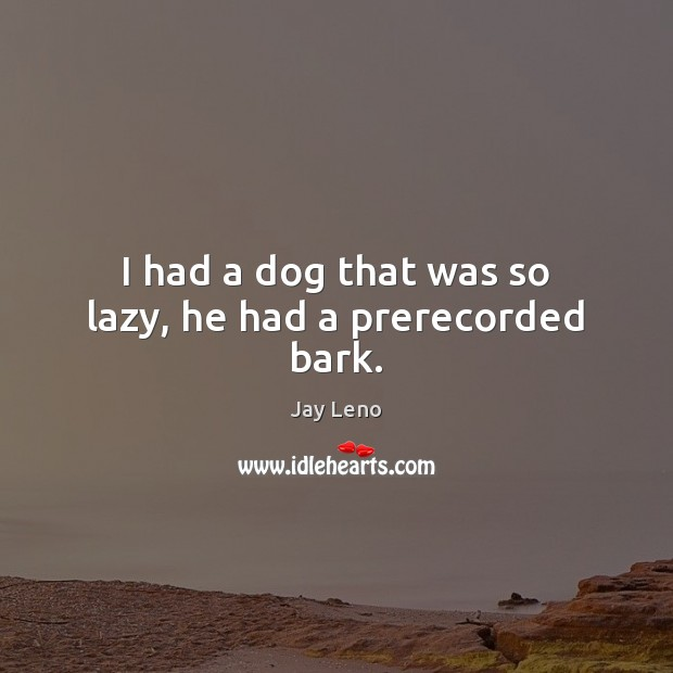 Image, I had a dog that was so lazy, he had a prerecorded bark.