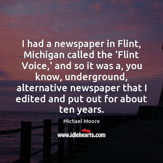I had a newspaper in Flint, Michigan called the 'Flint Voice,' Image