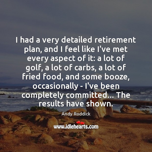 I had a very detailed retirement plan, and I feel like I've Andy Roddick Picture Quote