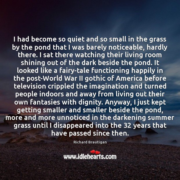 I had become so quiet and so small in the grass by Image