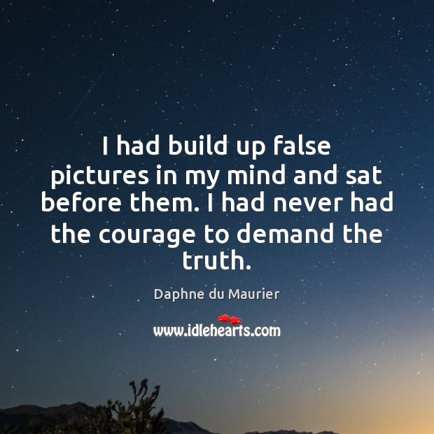 I had build up false pictures in my mind and sat before Image