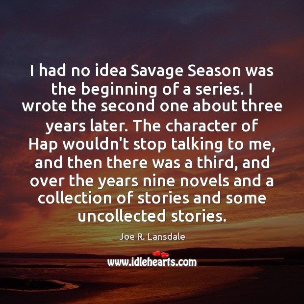 I had no idea Savage Season was the beginning of a series. Image
