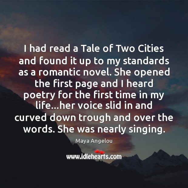 Image, I had read a Tale of Two Cities and found it up