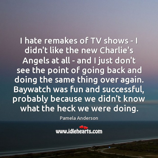 Image, I hate remakes of TV shows – I didn't like the new