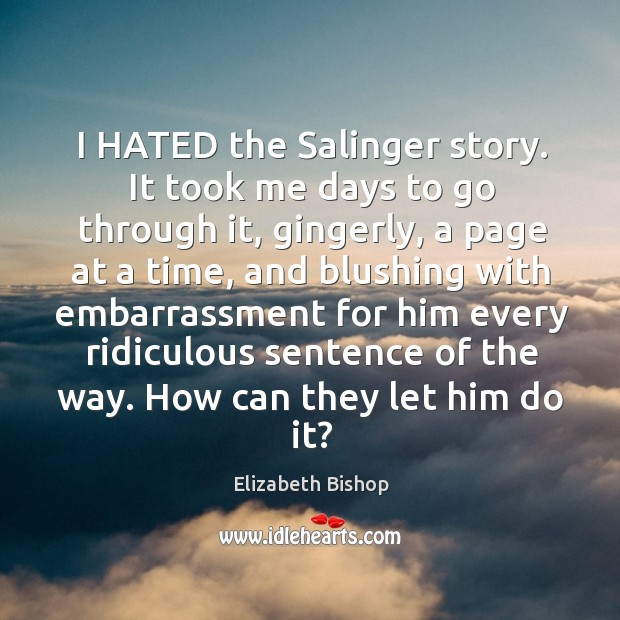 I HATED the Salinger story. It took me days to go through Image