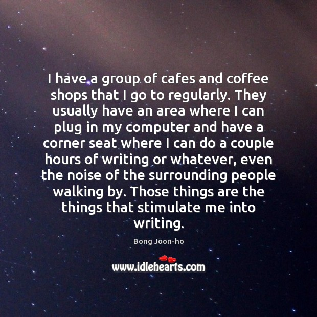 Image, I have a group of cafes and coffee shops that I go