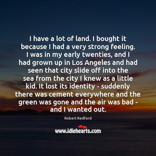 Image, I have a lot of land. I bought it because I had