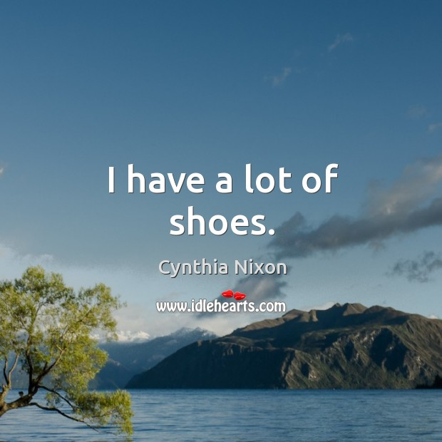 I have a lot of shoes. Image