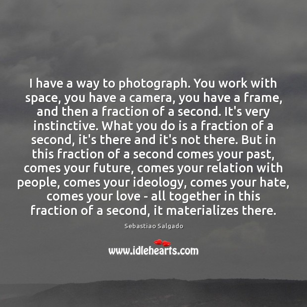 Image, I have a way to photograph. You work with space, you have
