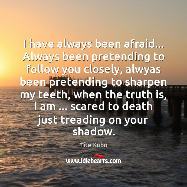 I have always been afraid… Always been pretending to follow you closely, Image