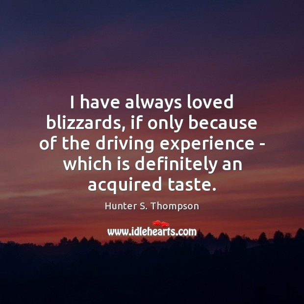 Image, I have always loved blizzards, if only because of the driving experience
