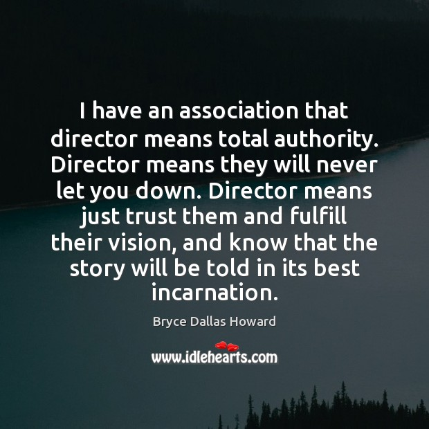 Image, I have an association that director means total authority. Director means they