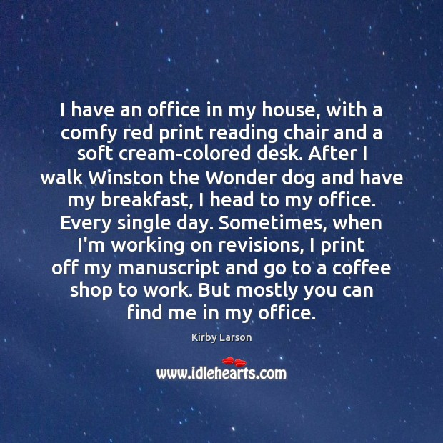 Image, I have an office in my house, with a comfy red print