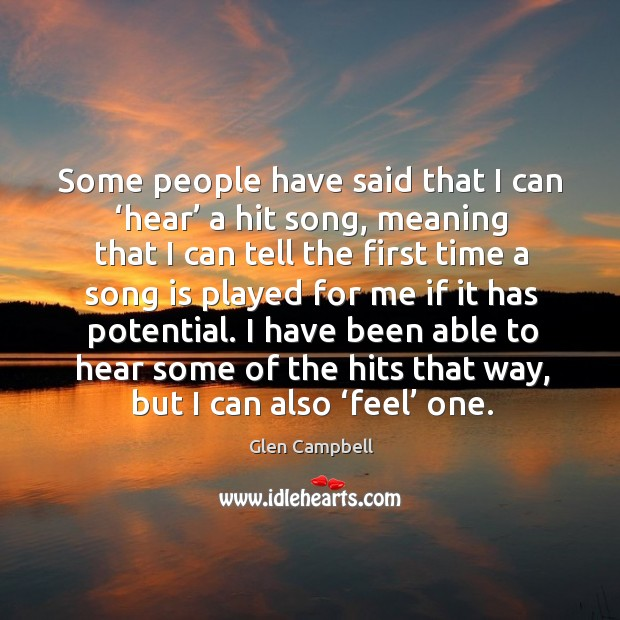 Image, I have been able to hear some of the hits that way, but I can also 'feel' one.