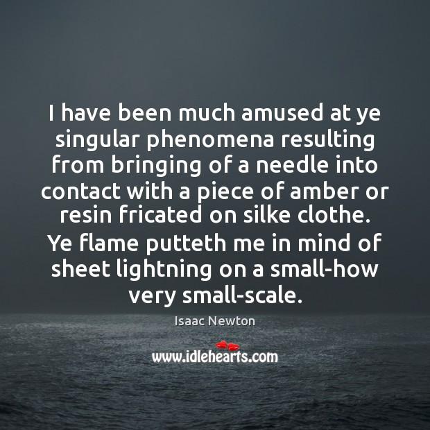 I have been much amused at ye singular phenomena resulting from bringing Image