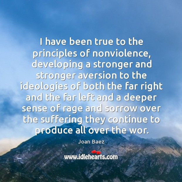 I have been true to the principles of nonviolence Image