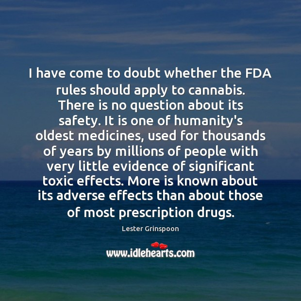 Image, I have come to doubt whether the FDA rules should apply to