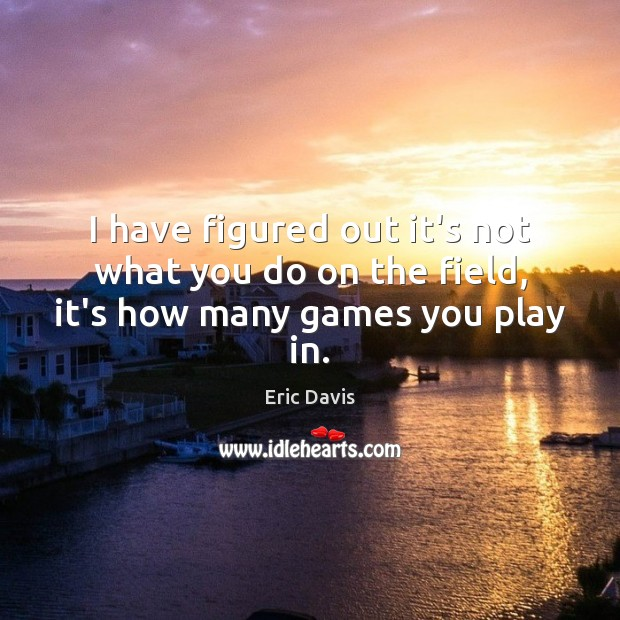 I have figured out it's not what you do on the field, it's how many games you play in. Image