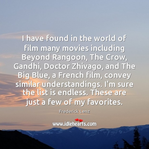 I have found in the world of film many movies including Beyond Image