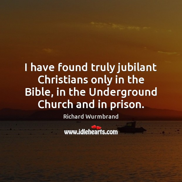 I have found truly jubilant Christians only in the Bible, in the Image