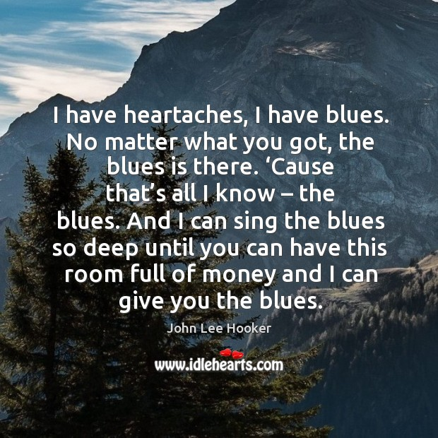 Picture Quote by John Lee Hooker