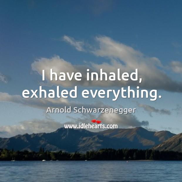 I have inhaled, exhaled everything. Image
