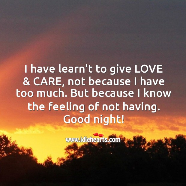 I have learned to give love & care. Image