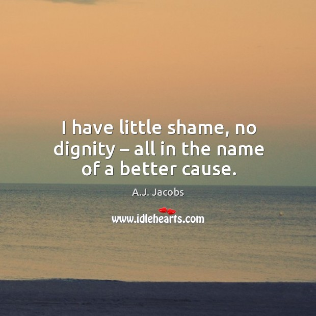 Image, I have little shame, no dignity – all in the name of a better cause.