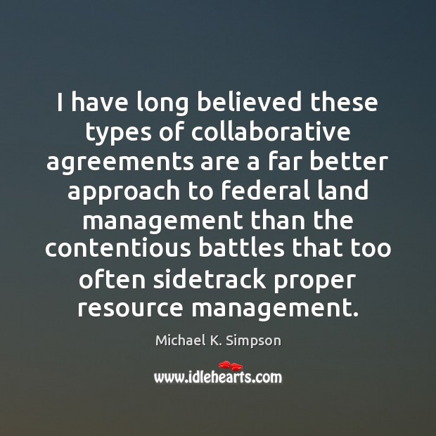 Image, I have long believed these types of collaborative agreements are a far