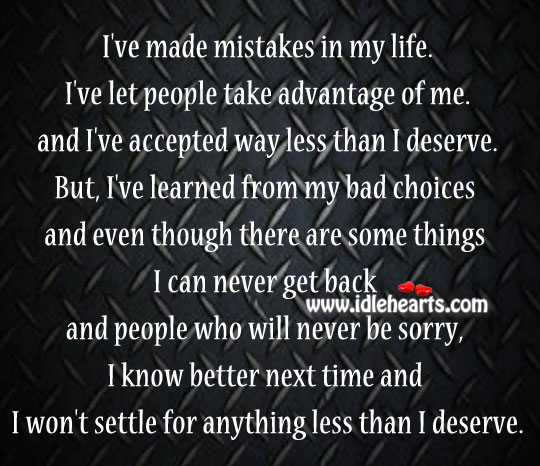 I've Made Mistakes In My Life